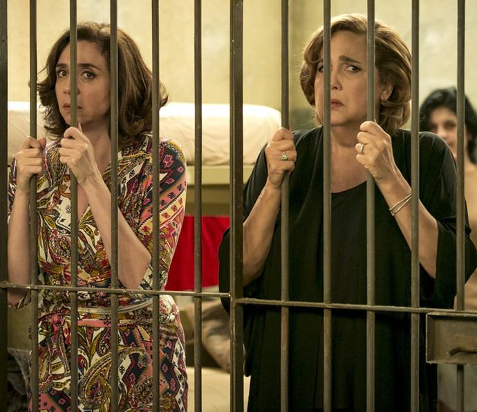 Elas foram presas após desacatar o delegado (Foto: Isabella Pinheiro/Gshow)
