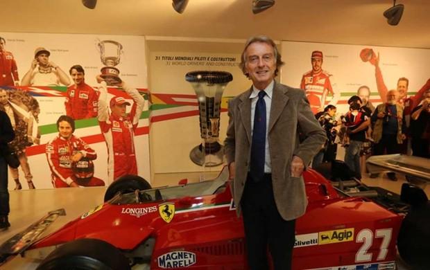 O presidente Luca di Montezemolo inaugurou a exposição Ferrari Sporting Spirit (Foto: Divulgação)