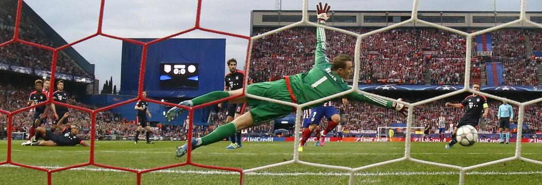 Golaço decide o jogo de ida pelas semifinais entre Atlético de Madrid e Bayern de Munique (Reuters)
