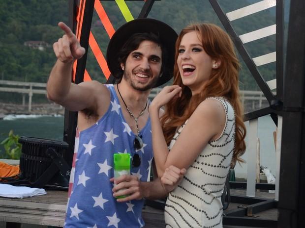 Fiuk e Sophia Abrahão em show na Zona Sul do Rio (Foto: Ari Kaye/ Divulgação)