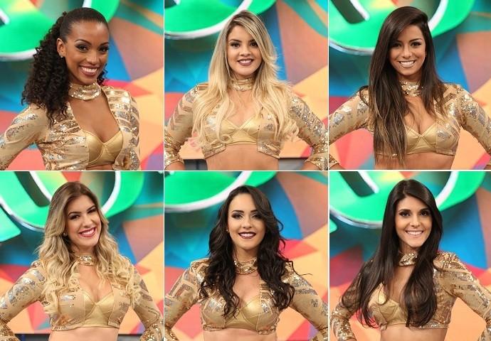 Bailarinas do 'Domingão do Faustão' (Foto: Carol Caminha/Gshow)