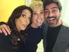Xuxa e Junno Andrade se encontram com Ivete Sangalo em gravação