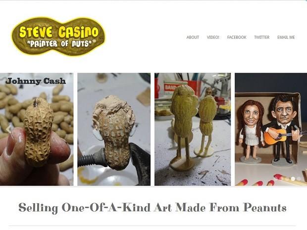 O antes e o depois de Johnny Cash e June em versão de amendoim (Foto: Reprodução/stevecasino.com)