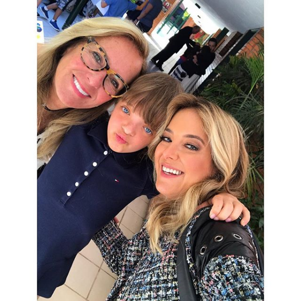 Ticiane Pinheiro com Rafinha Justus e Helô Pinheiro (Foto: Reprodução/Instagram)