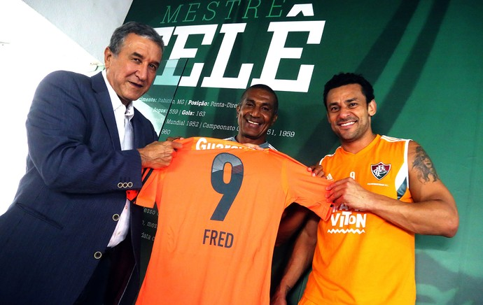 Parreira, Cristovão Borges e Fred, Fluminense (Foto: Nelson Perez / Fluminense FC)