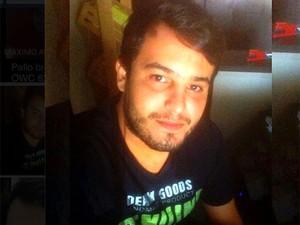 Máximo Augusto, de 23 anos, foi achado em estrada de terra (Foto: Arquivo pessoal)