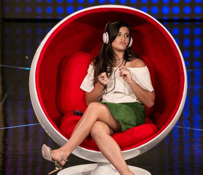 Giulia Costa curte um som! (Foto: Isabella Pinheiro / Gshow)
