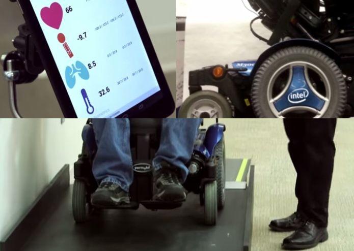 Como funciona a cadeira de rodas da Intel (Foto: Reprodução/YouTube)