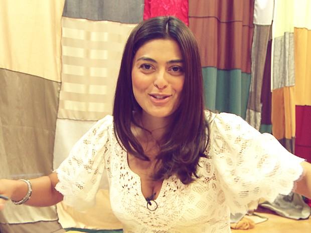Juliana Paes mostra aula de prosódio  (Foto: Meu Pedacinho de Chão/TV Globo)