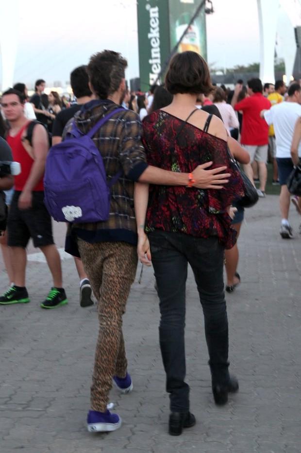 Rock in Rio - Maria Paula e namorado (Foto: Claudio Andrade/Fotorio News)