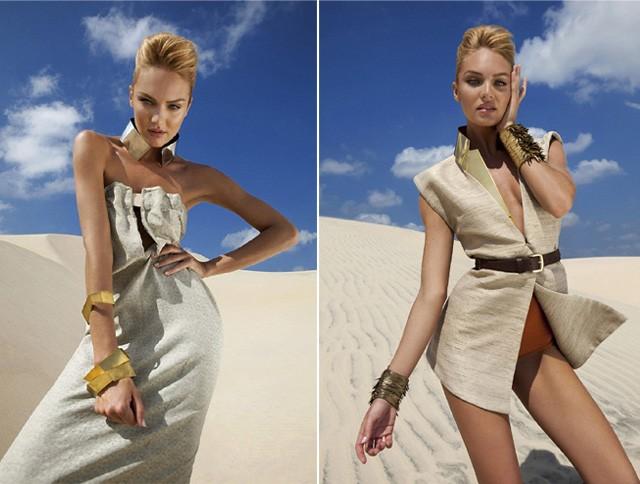 Em cliques para a Vogue Brasil (10.2011) ela usa um dos artifícios que aconselha: quadril inclinado (Foto: Reprodução)