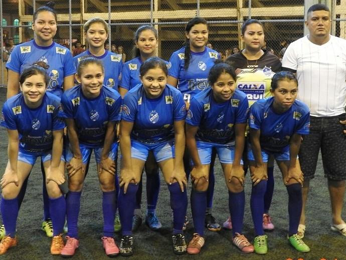 Time feminino fo vice no primeiro torneio em que participou em Caracaraí (Foto: Imagem/Divulgação)