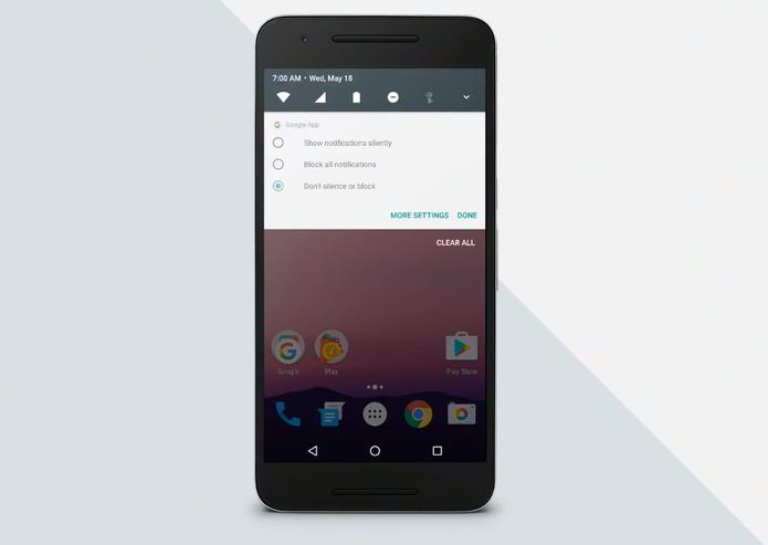 Android N terá mais opções em notificações (Foto: Reprodução/Google)