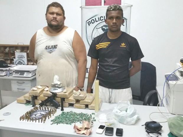Lázaro do Vale Feitosa, 32 anos, e Luanilton Ferreira Sousa, 25 anos, são suspeitos de integrarem facção criminosa (Foto: Divulgação / SSPMA)