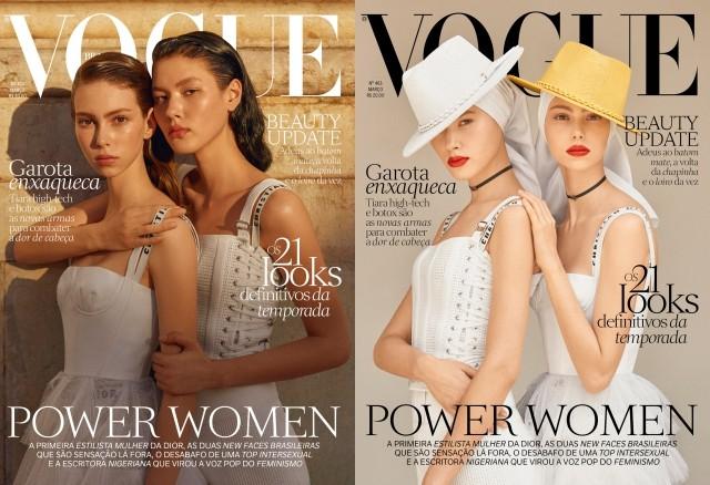 Lorena Maraschi e Angelica Erthal na edição de março de 2017 da Vogue Brasil (Foto: Zee Nunes)