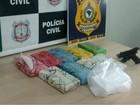 Três pessoas foram presas por traficar 10 kg de cocaína pura no DF