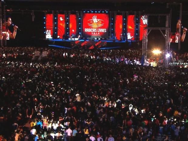 Conferência Radicais Livres 2014, em Goiânia, Goiás (Foto: Reprodução/TV Anhanguera)