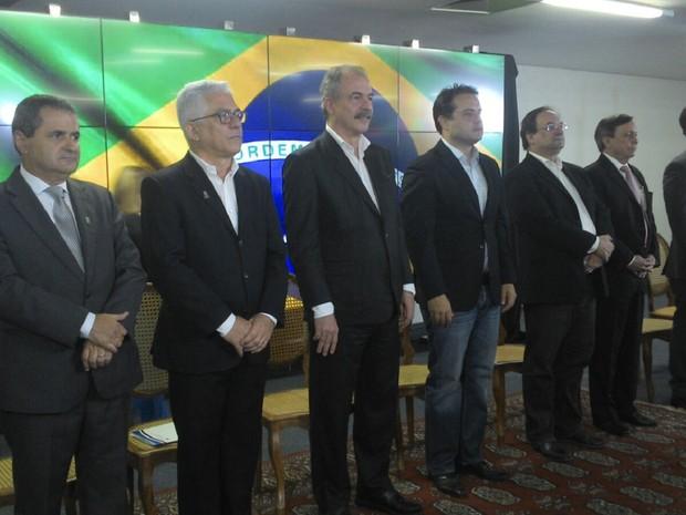 Lançamento do PNAIC aconteceu no Palácio República dos Palmares  (Foto: Larissa Vasconcelos/G1)