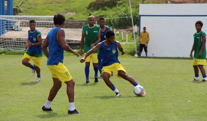 Nacional realiza treino na manhã de quarta-feira (Foto: Nacional/Ennas Barreto)