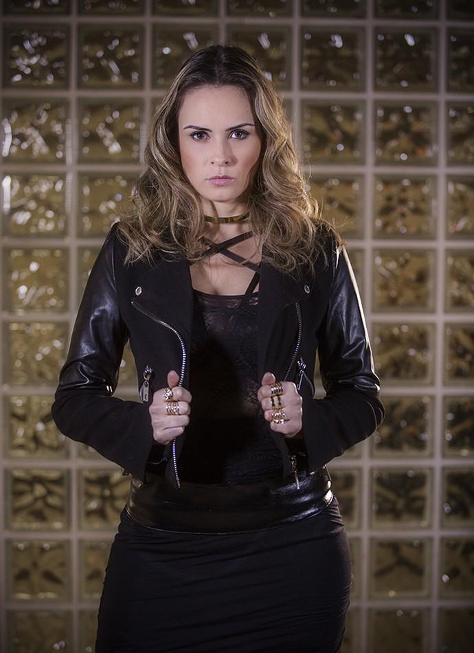 Ana Paula como Atena (Foto: Raphael Dias/Gshow)