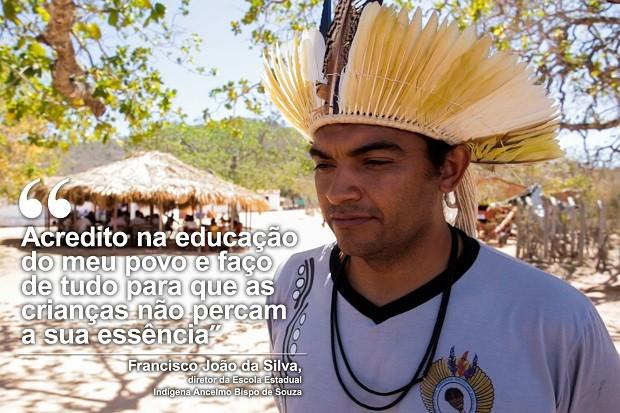 Diretor de escola indígena cedeu casa alunos estudarem (Foto: Jonathan Lins/G1)