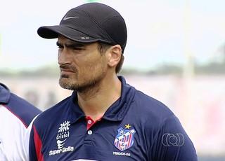 Edson Júnior, técnico do Trindade (Foto: Reprodução/TV Anhanguera)