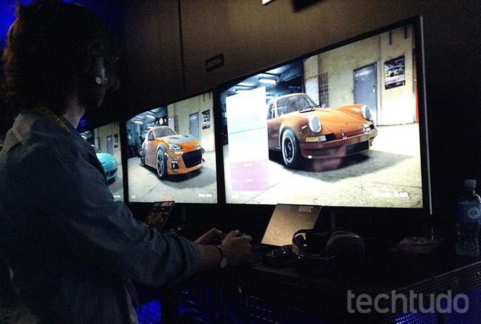 Need for Speed: testamos o novo game que é inspirado em Underground (Foto: Felipe Vinha/TechTudo)
