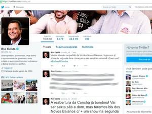 Novos Baianos farão show extra na Concha Acústica na segunda, diz Rui Costa por meio do Twitter (Foto: Reprodução/TV Bahia)