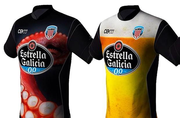 Camisas do Deportivo Lugo. Já pensou se a moda pega? (Foto: Reprodução)