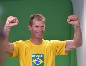 Robert Scheidt na apresentação da equipe brasileira de iatismo (Foto: André Durão)
