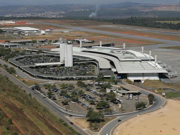 Vista aérea do Aeroporto Internacional Tancredo Neves, em Confins (MG) (Foto: Divulgação/Infraero)