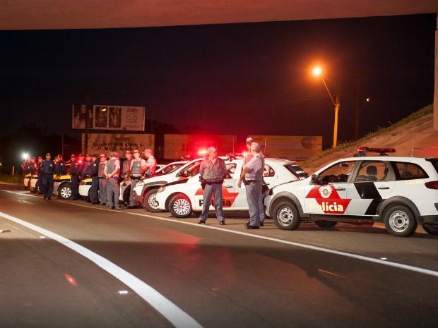 Policiamento foi reforçado na cidade após ataques (Foto: Evandro Ananias / Secom Tatuí)