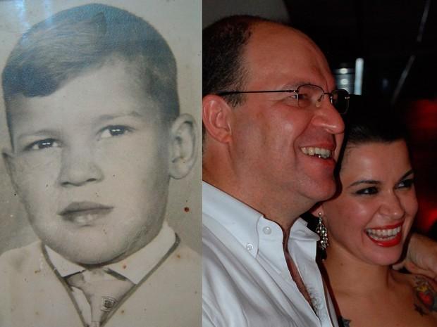 Candidato quando criança e com a filha Gabriela  (Foto: Arquivo Pessoal)