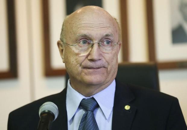 O ministro da Justiça, Osmar Serraglio, no Conselho Nacional de Política Criminal e Penitenciária (CNPCP) (Foto: Marcelo Camargo/Agência Brasil)