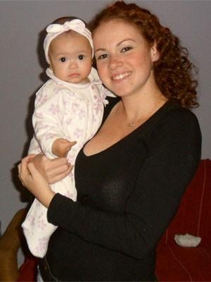 Beatriz Botelho com a filha, Maria Luiza, de 1 ano (Foto: Arquivo pessoal)