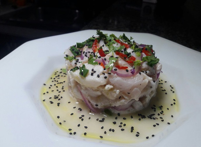 Ceviche de robalo é ótima opção como entrada em um jantar (Foto: Gshow/Rede Clube)