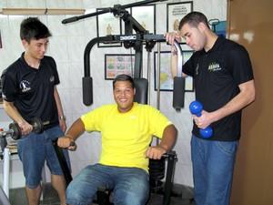 Weslei manteve rotina diária de cinco horas de treino (Foto: Anna Gabriela Ribeiro/G1)