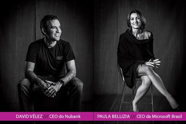 É assim que se provoca a ruptura de crenças e modelos tradicionais de negócios, disse David Vélez, do Nubank, em entrevista a Paula Bellizia, da Microsoft (Foto: Rogério Albuquerque)