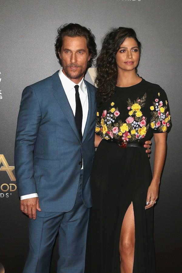 O ator Matthew McConaughey e sua esposa, a modelo e atriz Camila Alves (Foto: Getty Images)