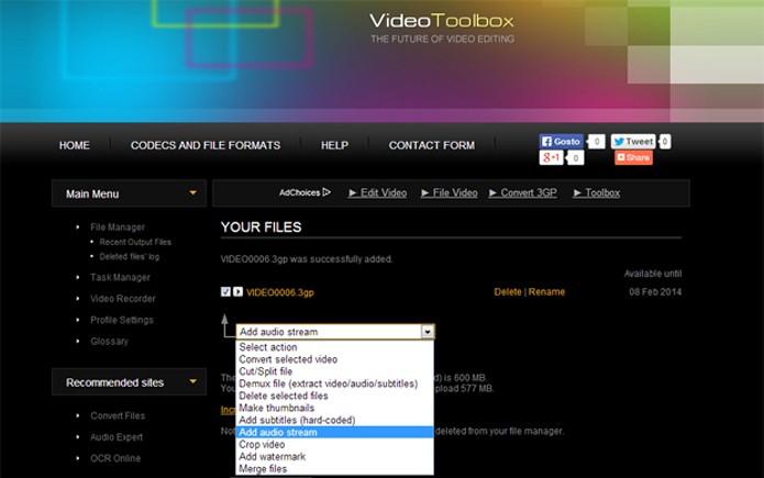 O Video Toolbox oferece recursos básicos de edição (Foto: Reprodução/Teresa Furtado) (Foto: O Video Toolbox oferece recursos básicos de edição (Foto: Reprodução/Teresa Furtado))