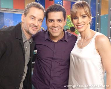 Dan Stulbach, Lair Rennó e Ana Furtado comandam o Encontro desta segunda-feira (Foto: Encontro com Fátima Bernardes / TV Globo)