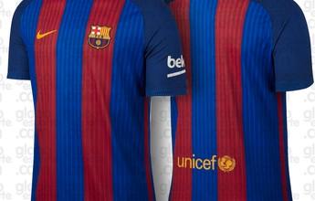 BLOG: Tradicional! Veja a foto oficial da nova camisa do Barcelona com listras verticais
