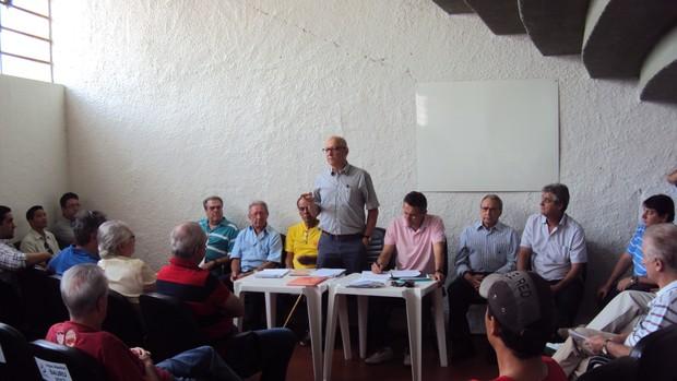Eleição presidencial do Noroeste, em Bauru - SP (Foto: Thiago Navarro/EC Noroeste)