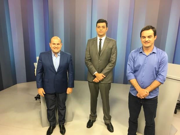Roberto Cláudio e Capitão Wagner disputam o segundo turno na eleição em Fortaleza e participam de debate na TV Verdes Mares (Foto: André Teixeira/G1)