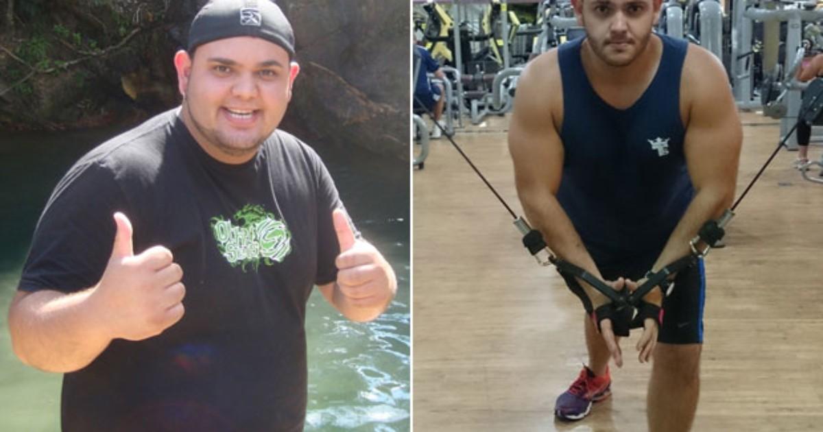 Jovem emagrece 50 quilos após ter perdido o fôlego ao se abaixar