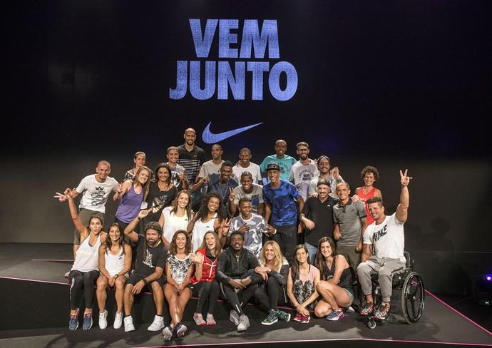 Atletas evento nike (Foto: Divulgação)