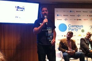 Bruno Souza, presidente da fundação Campus Party, apresenta a edição 2013 do evento, em São Paulo. (Foto: Amanda Demetrio/G1)