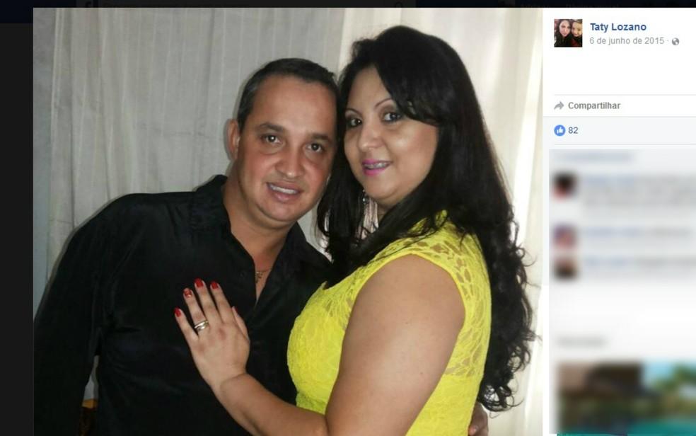 O tratorista Alex Pereira e a gerente de supermercado Tatiana Lozano Pereira são suspeitos do crime (Foto: Reprodução/Facebook)