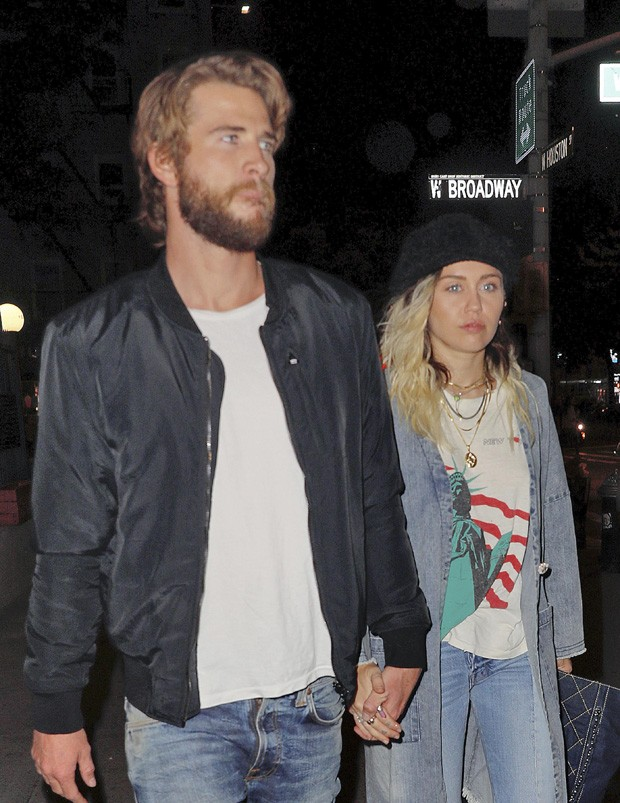 Liam Hemsworth e Miley Cyrus (Foto: The Grosby Group)