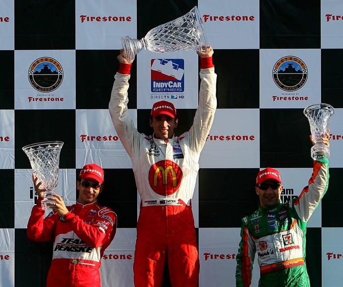 Justin Wilson, Tony Kanaan, Fórmula Indy, pódio (Foto: Getty Images)
